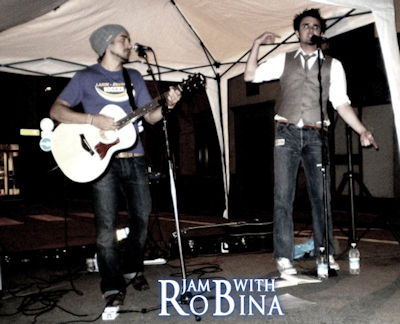 Jam with Robina performing at Bar Centrale, Bardi, Italy.