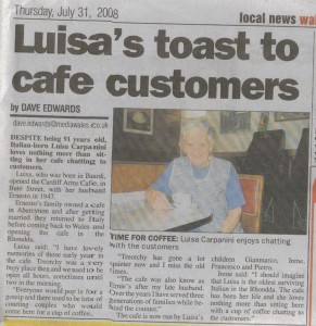 Luisa\'s Toats to Cafe Customers