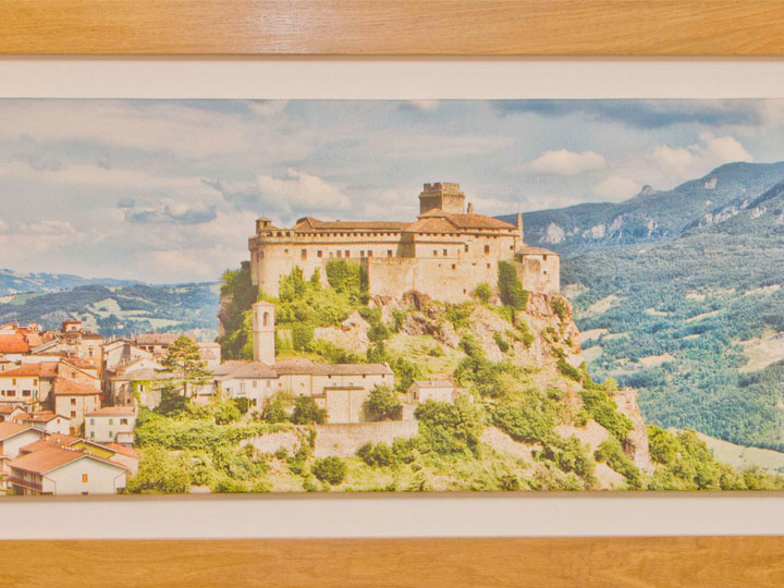 Bardi Castle Printed Canvas by Mark Baylis